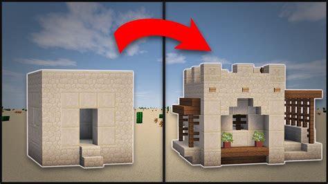 minecraft   remodel  desert village small house