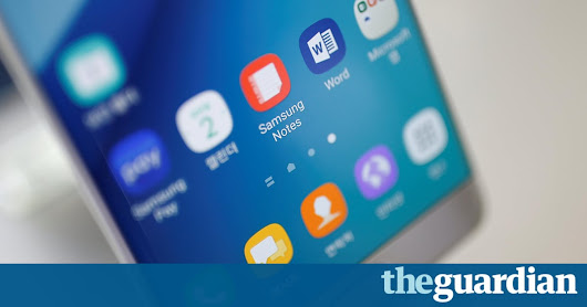 Samsung suspends sales of Galaxy Note 7 after smartphones catch fire | Technology | The Guardian