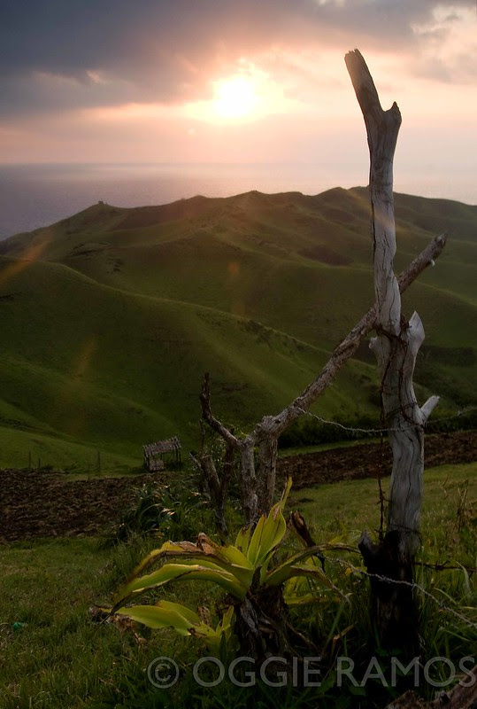 Batanes - Rolling Hills Sunset Post