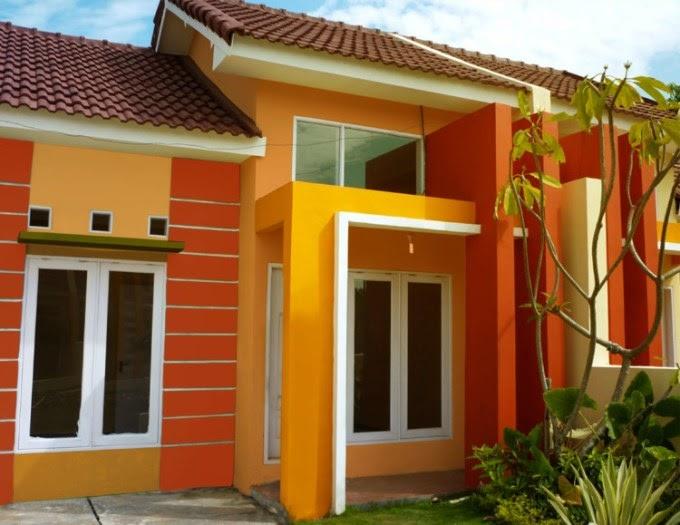 50+ Kombinasi Warna Cat Rumah Biru Kuning