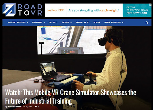 Virtual Reality News Leader Road to VR Highlights ITI VR Mobile Crane Simulator