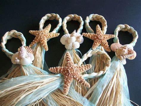 Beach Aisle Decorations, Beach Pew Bows, Starfish and