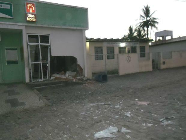 Assalto a banco em Governador Mangabeira (Foto: Blog do Gaguinho / Radialista Gaguinho)