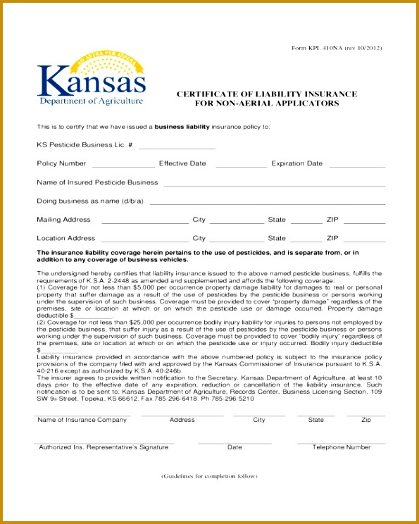 3 Certificate Of Insurance Request form Template ...