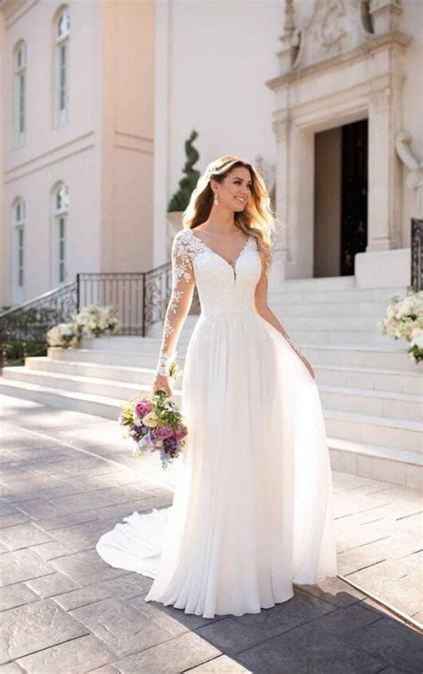 Casual Long Sleeved Wedding Dress   Stella York Wedding