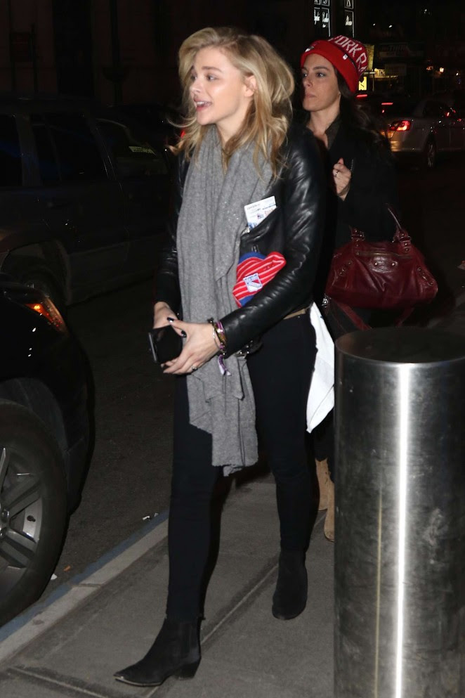 Chloe Moretz an Tights at Madison Square Garden -14