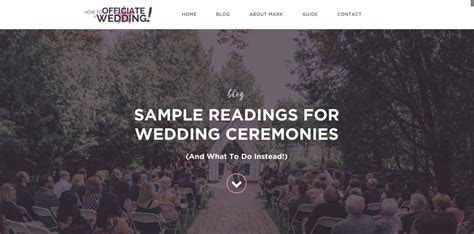 Sample Readings for the Wedding Ceremony (And What To Do