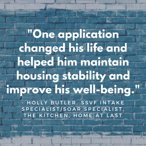 One application changed his life and helped him maintain housing stability and improve his well-being.