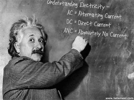 Albert Einstein explains AC, DC and ANC