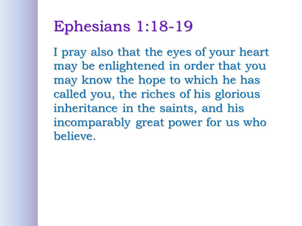 Image result for ephesians 1:18-19