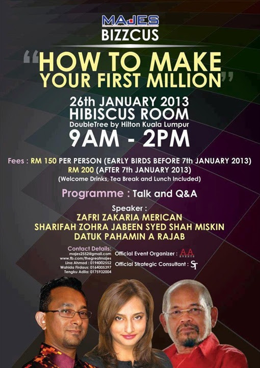 Sharifah Zohra Jabeen - How to Make Your First Million