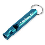 Dimension 9 Laser Engraved Anodized Makayla Metal Safetysurvival Whistle With Key Chain