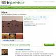 Negative Mars Review on TripAdvisor by a User Named Mars Curiosity