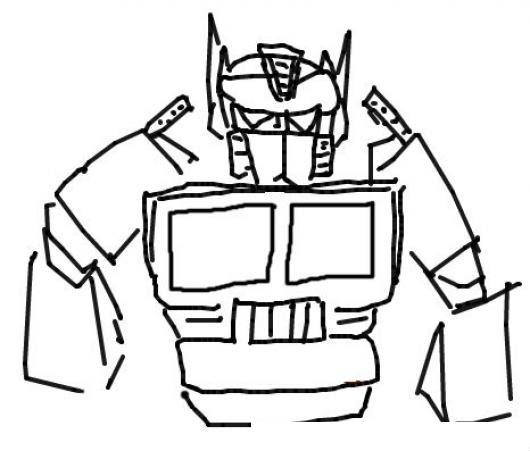 Optimus Prime Transformers Dibujo Del Robot Trailer Optimusprime