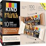 Kind Bars, Salted Caramel & Dark Chocolate Nut, Dark Chocolate Almond & Coconut, Minis, Variety Pack - 10 pack, 0.7 oz bars