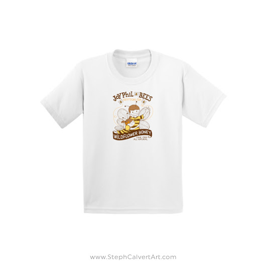 JoyPhil Bees All Ages Beekeeping Tee Shirt
