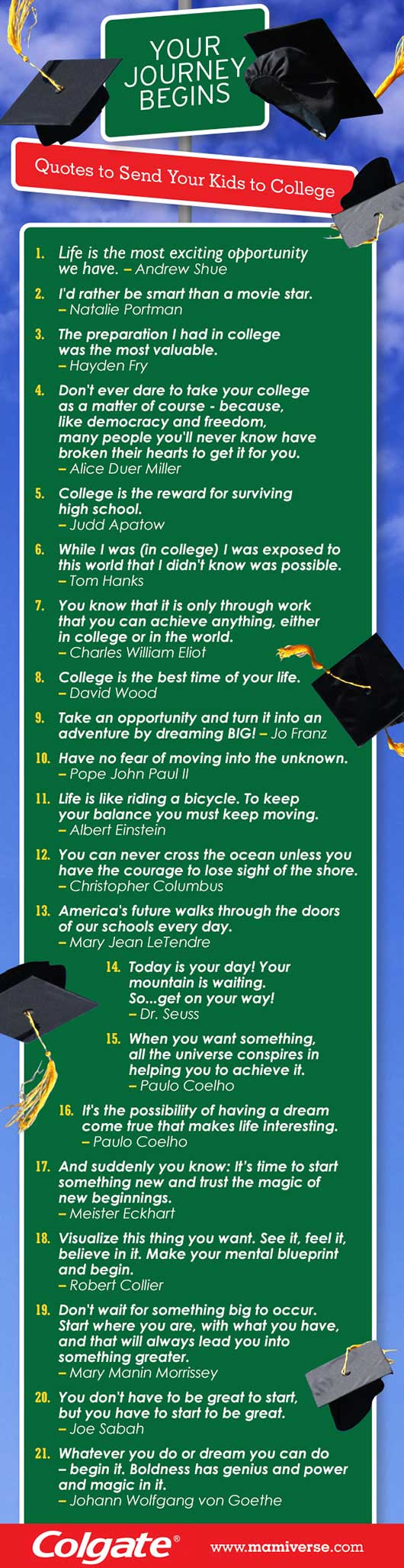 Inspirational Quotes To Send Your Kids Off To College Page 9 Of 12