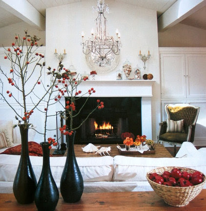 Gather up branches with bright-red berries for instant holiday color