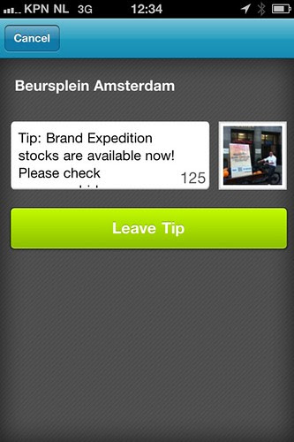 Foursquare screenshot Brand Expedition