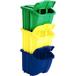 Suncast Recycle Bin Set - 3 count