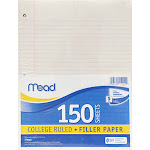 Meadwestvaco MEA15111 Notebook Paper College Ruled 150Ct