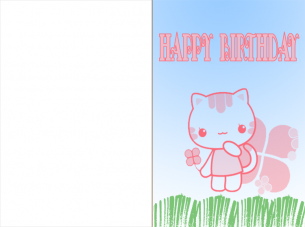 cat birthday cards printable