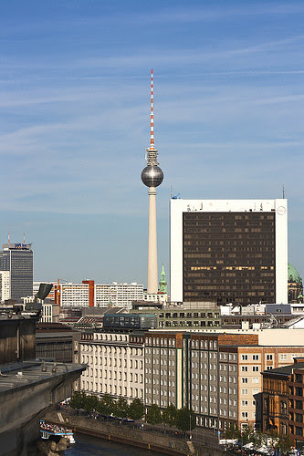 View of Berlin TV Tower from Reichstag Dome
