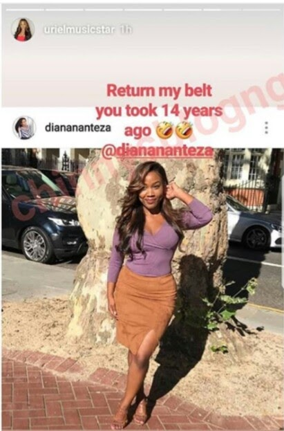 'Return My Belt You Took 14 Years Ago' – Uriel Tells Her Childhood Friend (Photo)