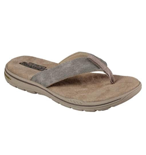 Skechers slippers Rosen Khaki | Coolbreezz.nl