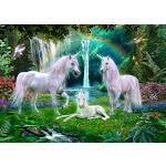 Rainbow Unicorn Family Poster Print by Jan Patrick (18 x 9)