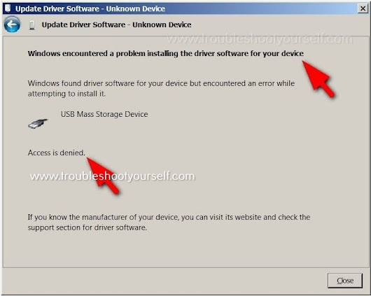 [Solved] A problem installing the driver software for your device