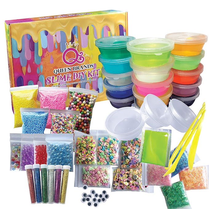 Amazon - QueenBrands DIY Slime Kit Supplies for Girls & Boys