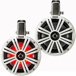"Kicker KMTC8W 2-way Marine Speakers - Pair - 8"" - White"