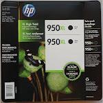 HP 950XL Twin-pack Ink Cartridge, Black - 2-pack