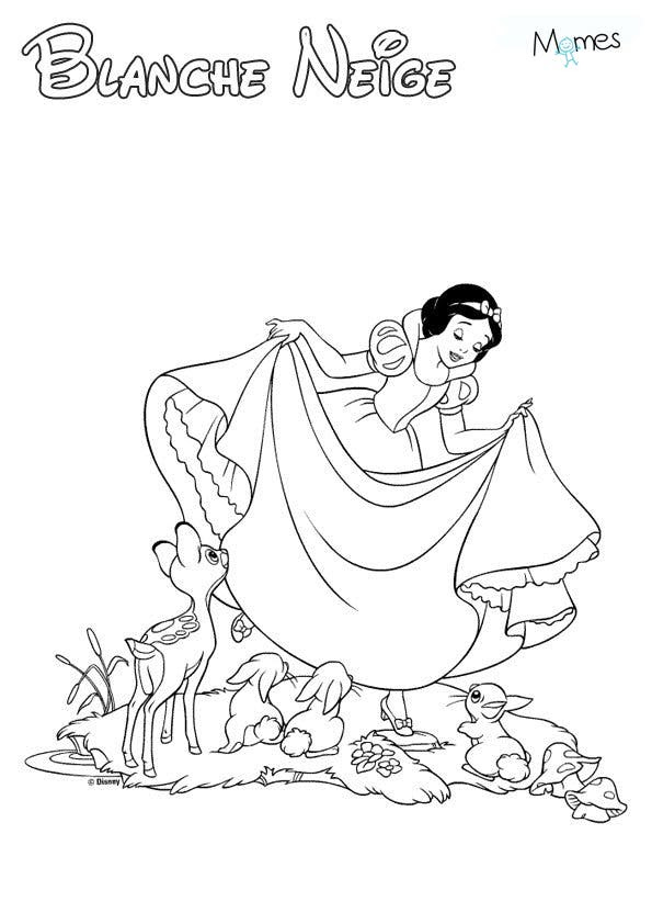 Coloriage Blanche Neige Momesnet