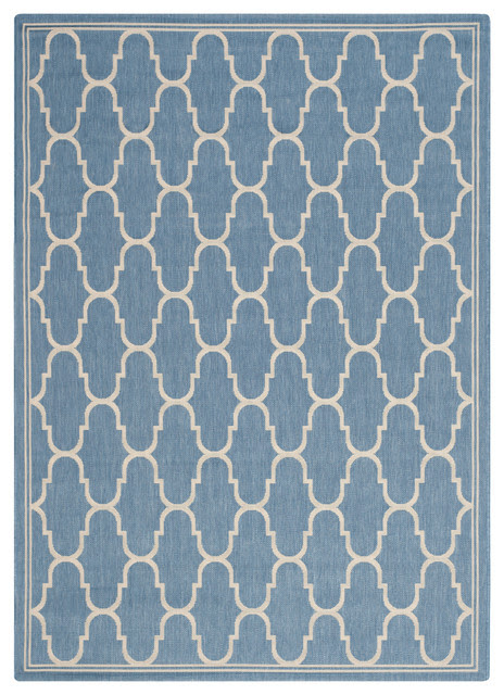 "Safavieh Concord Rug, Blue and Beige, 8'x11'2"" - Contemporary - Outdoor Rugs - by Safavieh"