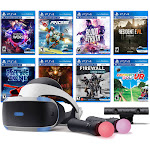 PlayStation VR 11-In-1 Deluxe 8 Games Bundle: VR Headset, Camera, Move Motion Controllers, VR Worlds, Resident Evil 7, Firewall Zero Hour, Battlezone