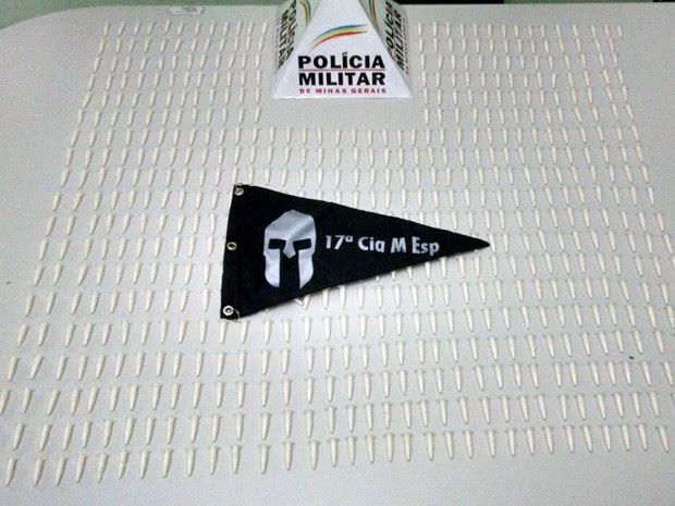 Polícia apreende 625 pinos de cocaína em Pouso Alegre (Foto: Polícia Militar)