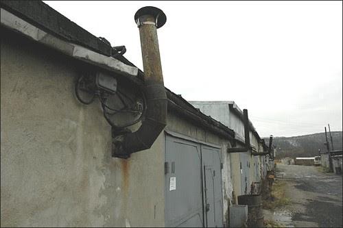 Chaminé de garagem de Murmansk