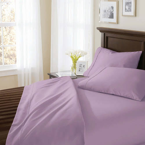 amazing better homes and garden sheets. Better Homes and Gardens 400 Thread Count Solid Egyptian Cotton True Grip Bedding  Sheet Set Purple Google Express