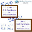 $100 Gift Certificate for any combination of Bethlehem Books - Coupon Savings In The South