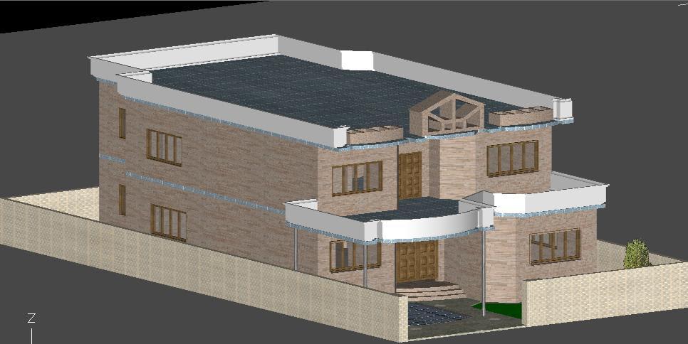 Simple Autocad 3d House Design