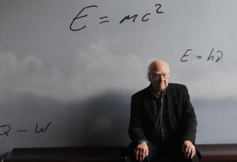 Peter Higgs en el CosmoCaixa de Barcelona. | Antonio Moreno