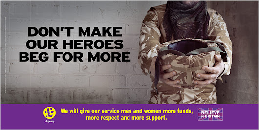 Don't make our heroes beg for more | UKIP Telford & Wrekin