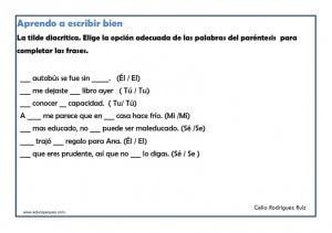 Actividades Para Niños De Segundo De Primaria Español Niños Relacionados