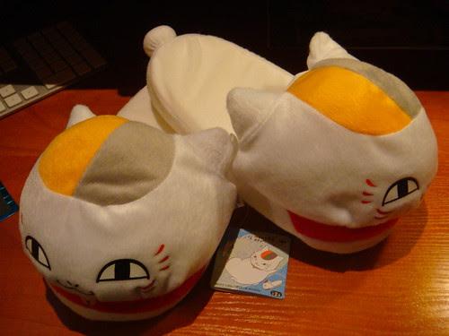 Nyanko slippers.