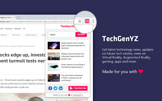 Take the power of TechGenYZ with newly launched Google Chrome Extension