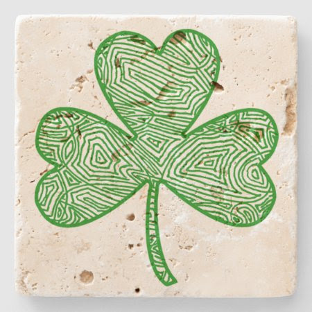 Shamrock (Light) Stone Coaster