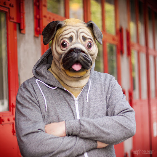 Pug Mask, A Latex Mask So You Can Look Like a Dog
