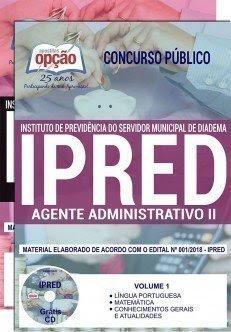 Apostila Concurso IPRED 2018 | AGENTE ADMINISTRATIVO II